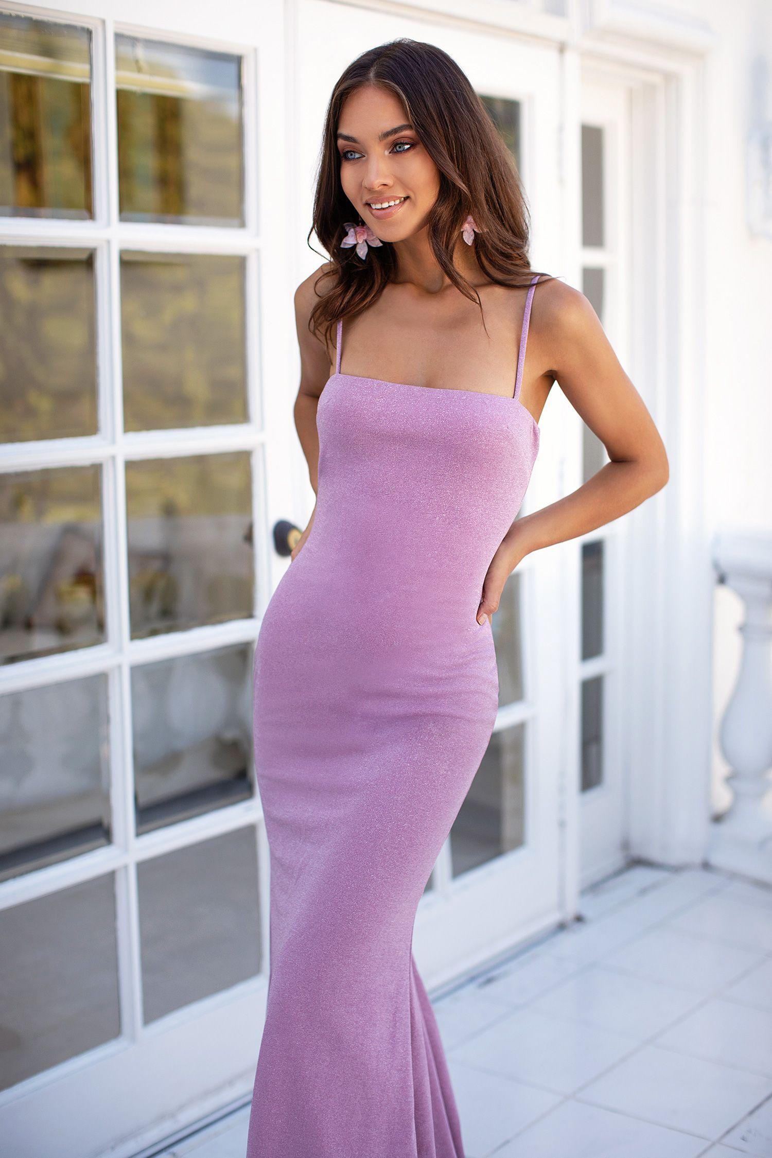 Stefania Lilac Long Bodycon Dress Dresses Prom Dresses [ 2250 x 1500 Pixel ]
