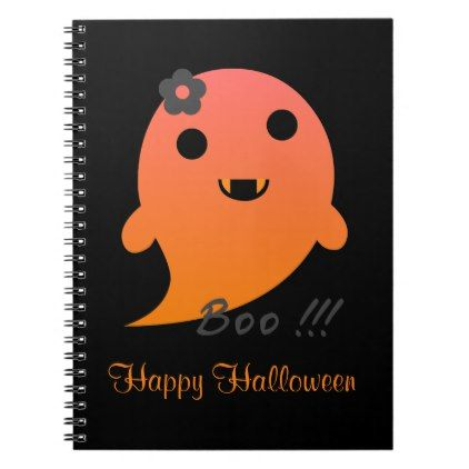 #Cute Halloween Ghost Notebook - #Halloween happy halloween #festival #party #holiday