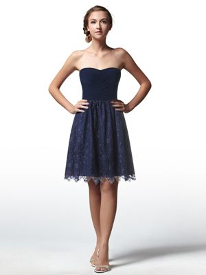 Blue Bridesmaid Dresses Junior Dress Elegant One Shoulder Short Navy