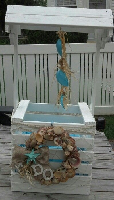 Beach theme bridal shower wishing well | Getting hitched | Pinterest ...