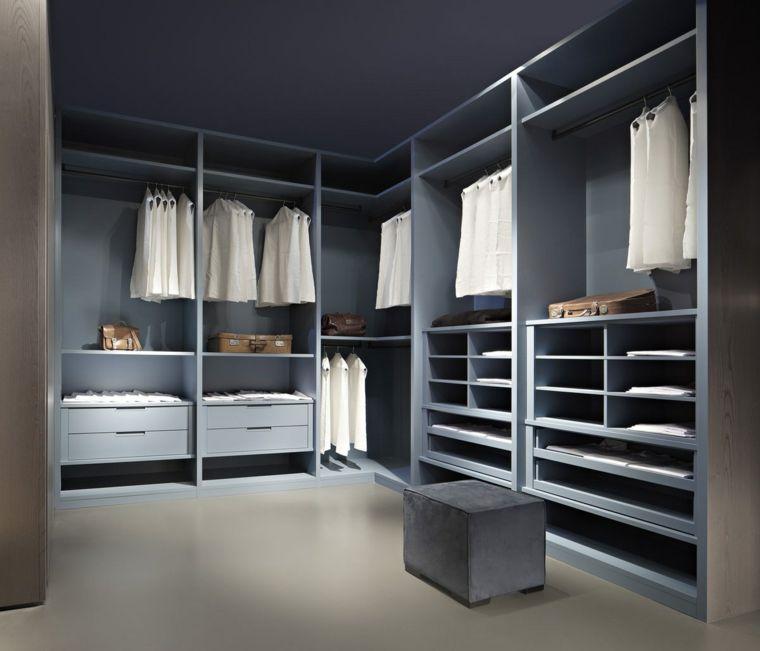Armarios roperos sin puertas 50 dise os funcionales for Disenos de closets sencillos