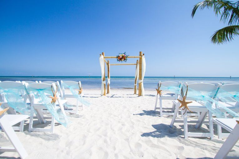 Smathers Beach Wedding Setup Soiree Key West Planner Florida Keys