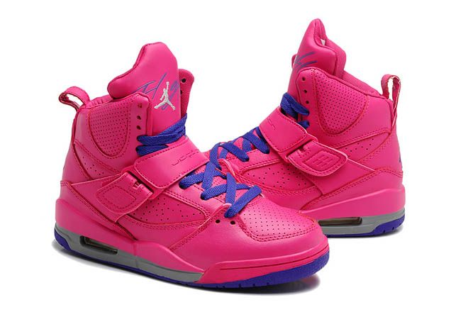 Female Nike Jordan Flight 45 High Gray with Vivid Pink Colorway Training  Shoes Online c8a5aace99
