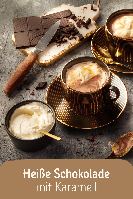 Heiße Schokolade mit Karamell