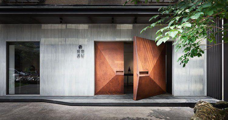 Porte d\u0027entrée acier patiné pour transformer la maison en galerie d