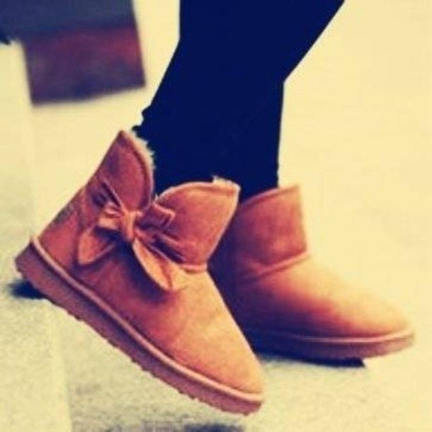 Ugg With Bow On Side Shoes Ugg Uggs Boots Ankle