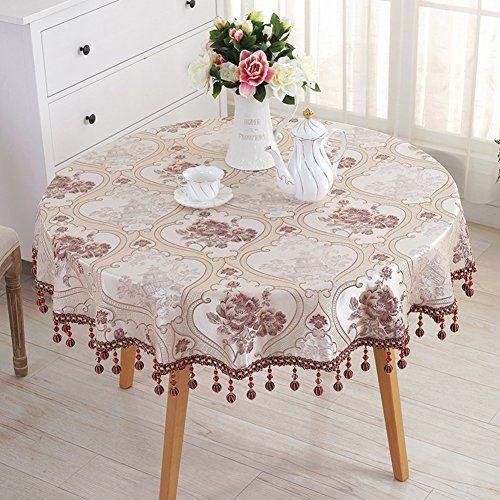 Scontia European Round Table Cloth Tablecloth Cloth Tablecloth