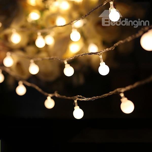 Decorative Festival 10 Meter 100 Round Led Indoor Outdoor String Lights Beddinginn