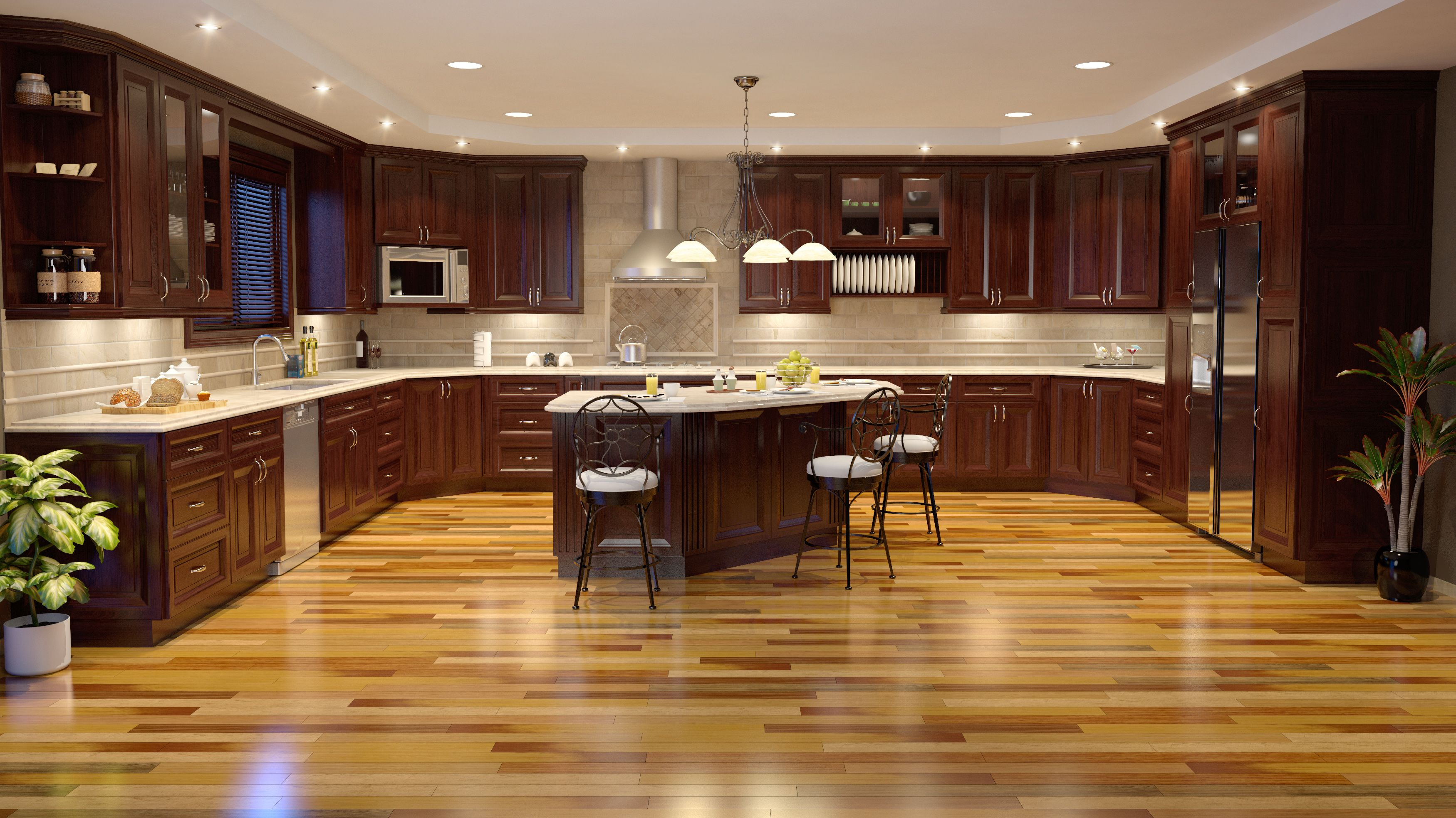 Boardwalk Cabinet Brazilian Teak Natural Color Beautiful Flooring Kitchen Remodel Flooring