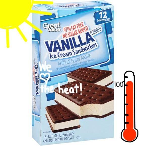 If Walmart's Ice Cream Sandwiches Don't Melt In The Sun Then WTF Is  A Walmart Ice Cream Sandwich Made Of   Ice cream sandwich, Flavor ice, Ice  cream
