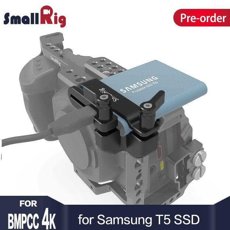 Smallrig Mount For Samsung T5 Ssd For Blackmagic Design Pocket Cinema Camera 4k Smallrig Cage 2245 Review Cinema Camera Smallrig Blackmagic Design