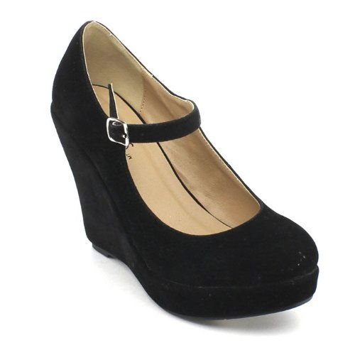 9bf247d940cd Amazon.com  Bonnibel Dolly-1 Womens Round Toe Mary Jane Platform Wedge  Pumps  Shoes