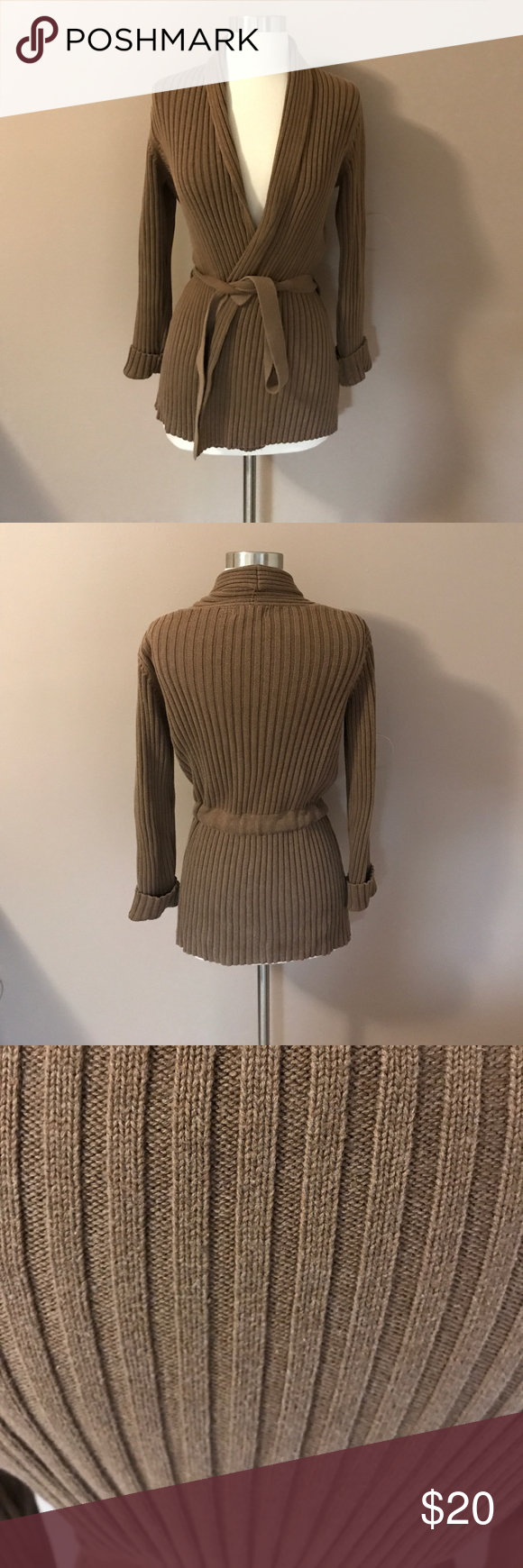Old Navy Belted Ribbed Wrap Sweater | Navy sweaters, Light browns ...