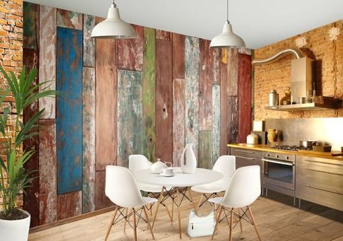 Peel And Stick Wood Panels Provide An Instant Reclaimed Look Peel And Stick Wood Home Remodeling Weathered Wood