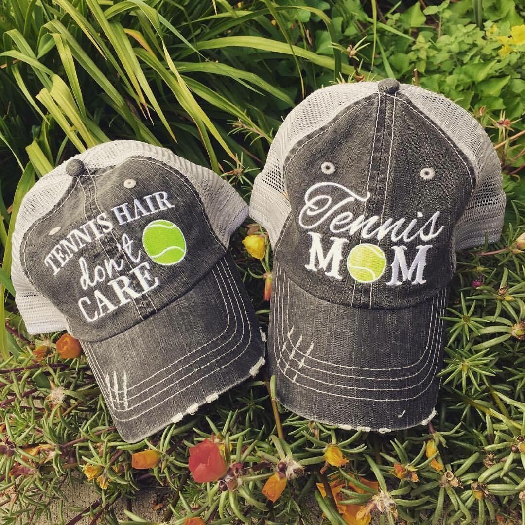Hats Tennis Mom Tennis Hair Dont Care Customize By Adding Your Favorite Players Name Or Number Mom Hats Tennis Hair Sports Mom
