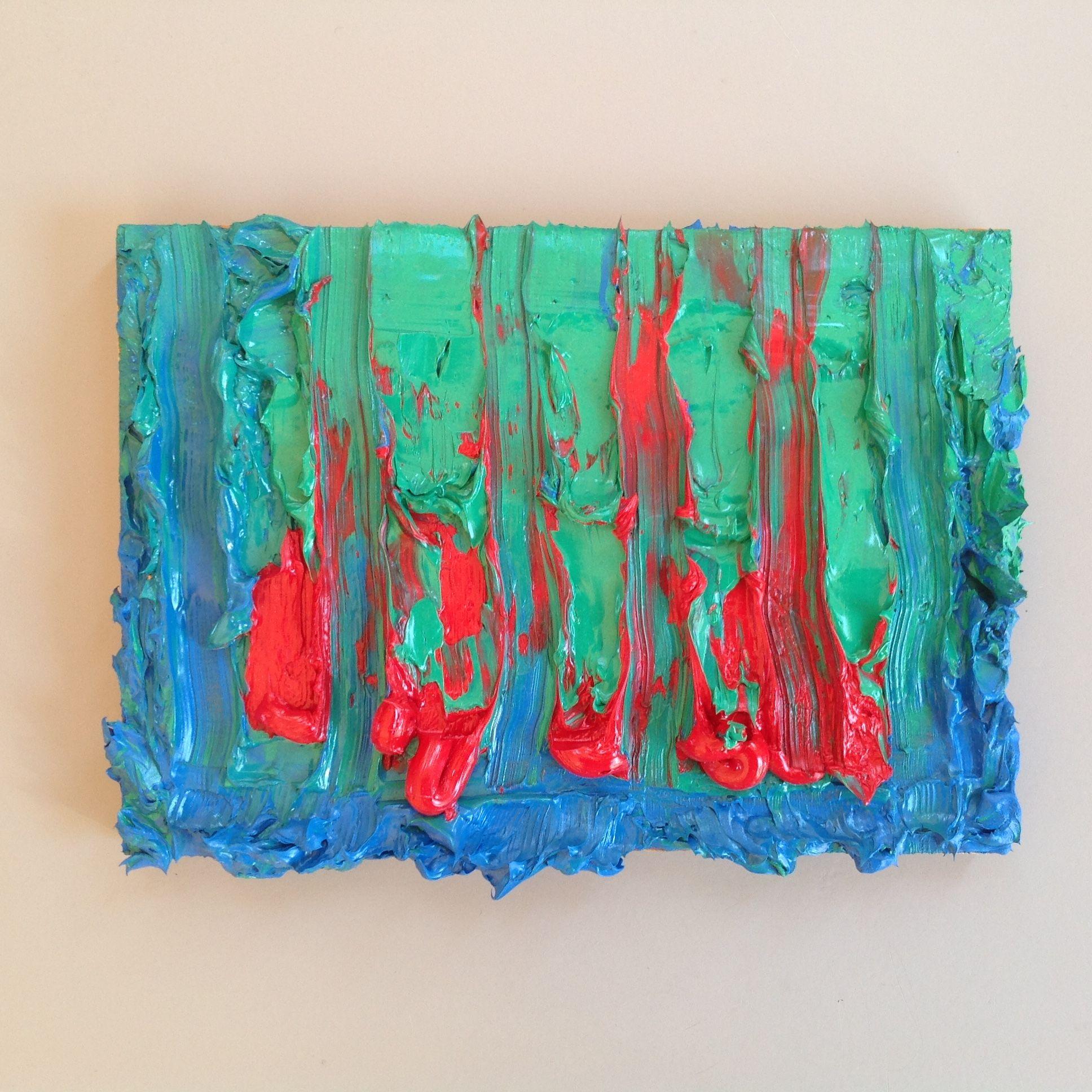 Riny Van Cleef, Oktober 2014, olieverf, 14 x 20 cm.