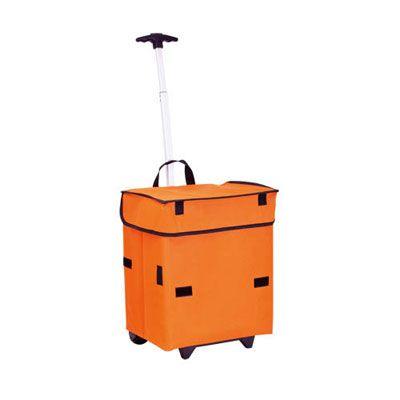 Sac Caddie- Tarifs sur devis (contact@objetpubenligne.com) - TO376013 Caddie Course Hiper Pliable Polyester 600D Bleu, orange, rouge 1250gr Marquage disponible : Transfert - 8 couleurs Dimensions marquage : 150×60 mm