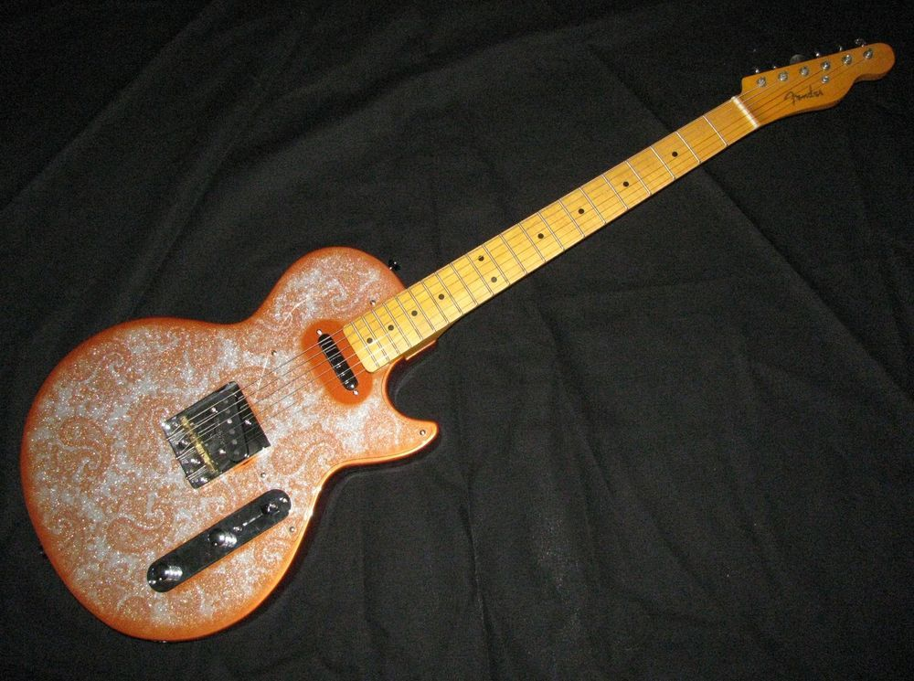 Custom orange sparkle paisley guitar guitars pinterest guitars custom orange sparkle paisley guitar swarovskicordoba Images