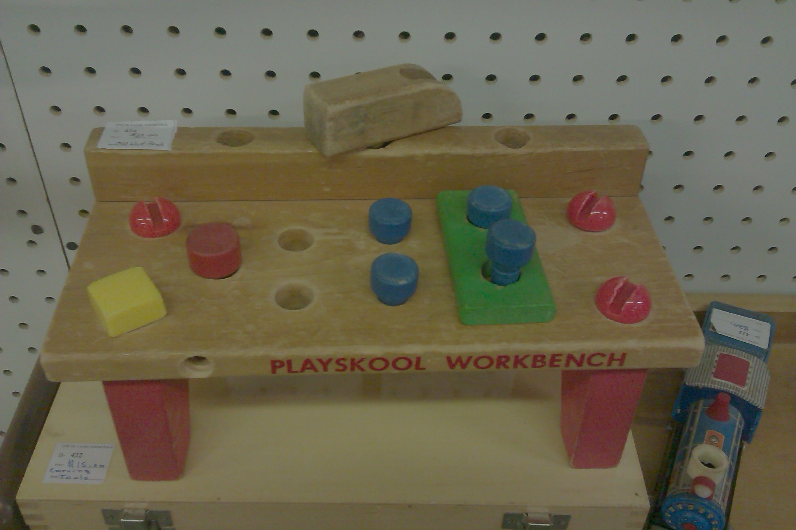 Playskool Wooden Workbench 1970s I Had One Of These When I Was 3 Woodstock Antique Mall 2015 Playskool Childhood Toys Cabbage Patch Kids