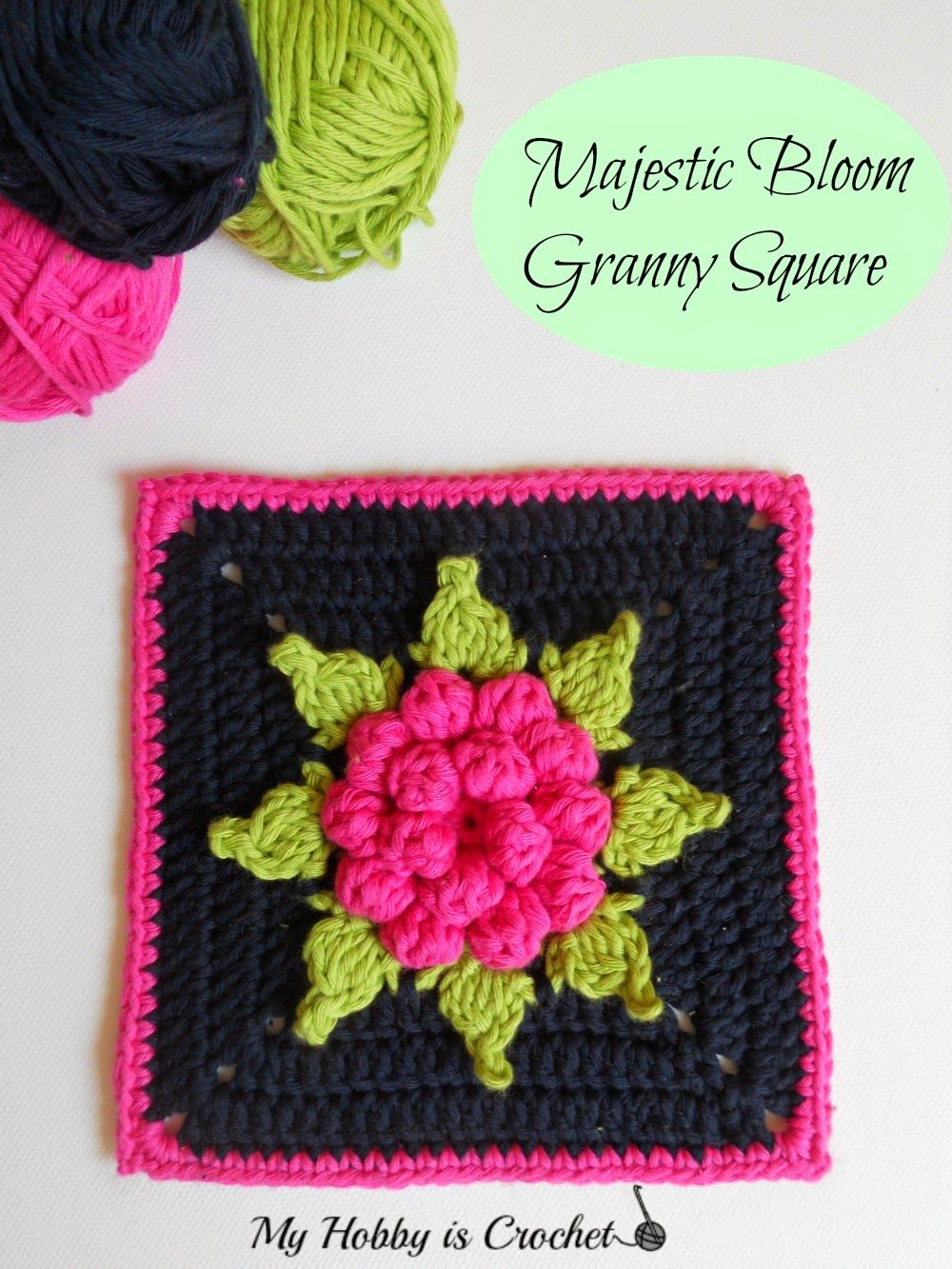 Majestic Bloom Granny Square Free Crochet Pattern with Tutorial ...