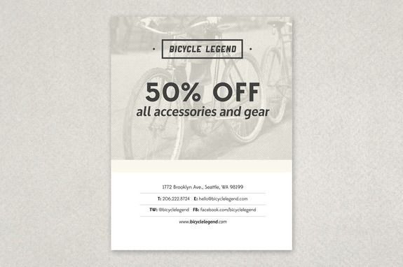 Bike Shop Flyer Template  Advertise An Upcoming Sale Or Event