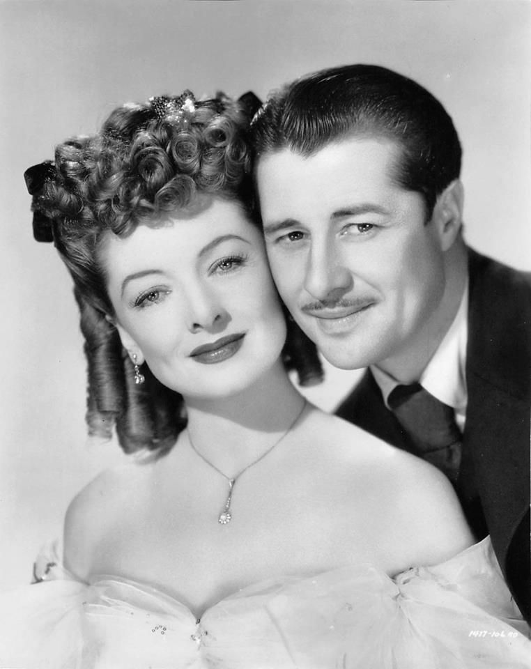 Myrna Loy and Don Ameche