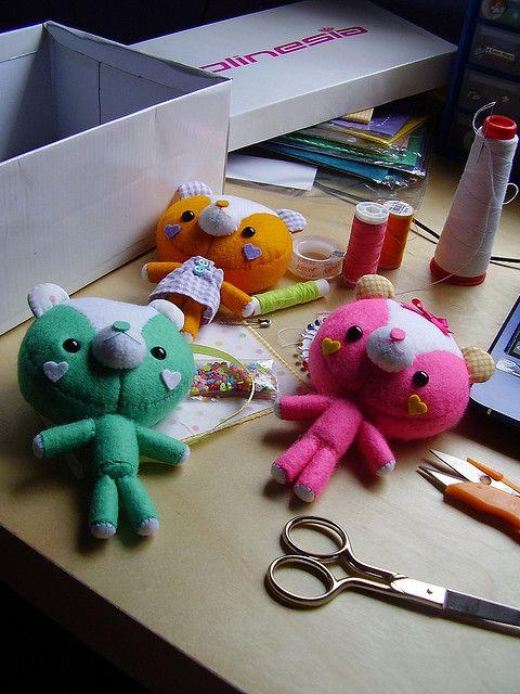 Crafting. by ♥ KawaiiCloud ♥, via Flickr