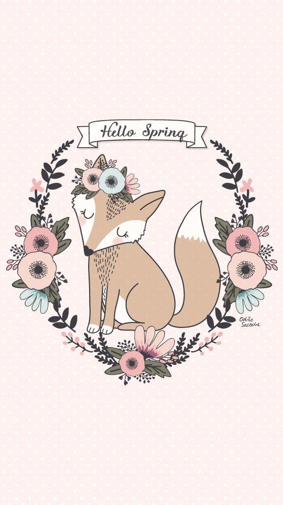 Freebies Fonds D Ecran Hello Spring Pour Accueillir Le Printemps Bonjour Printemps Fond Ecran Papiers Peints Mignons
