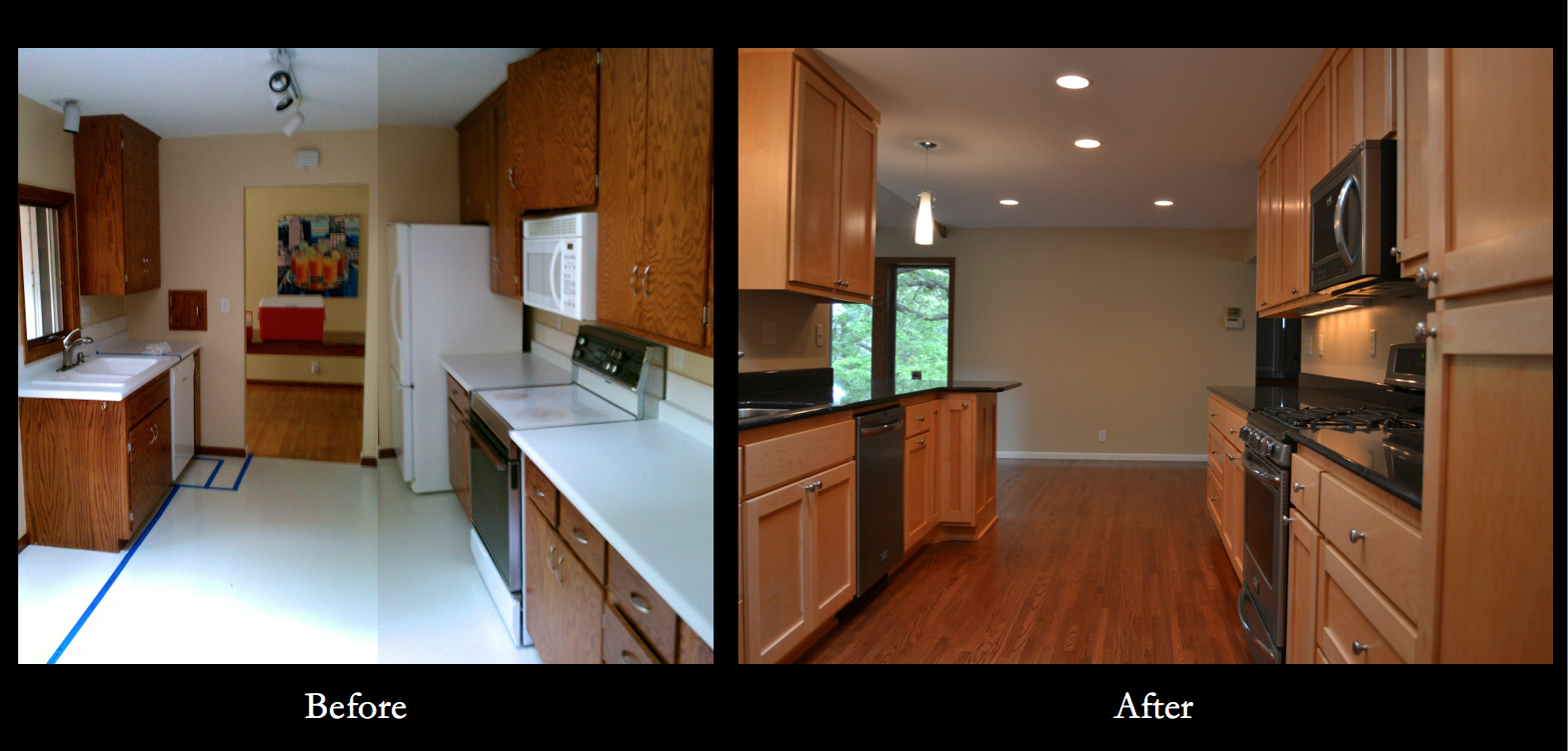 Home renovation before and after nicer on the eyes and for Mobile home kitchen ideas