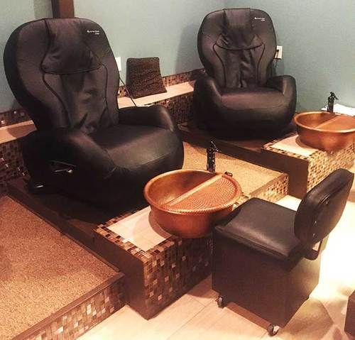 Spa Bowl Ped20 Fr Foot Soak Hammered Copper Pedicure Bowl With Removable Foot Rest Pedicure Bowls Pedicure Station Pedicure