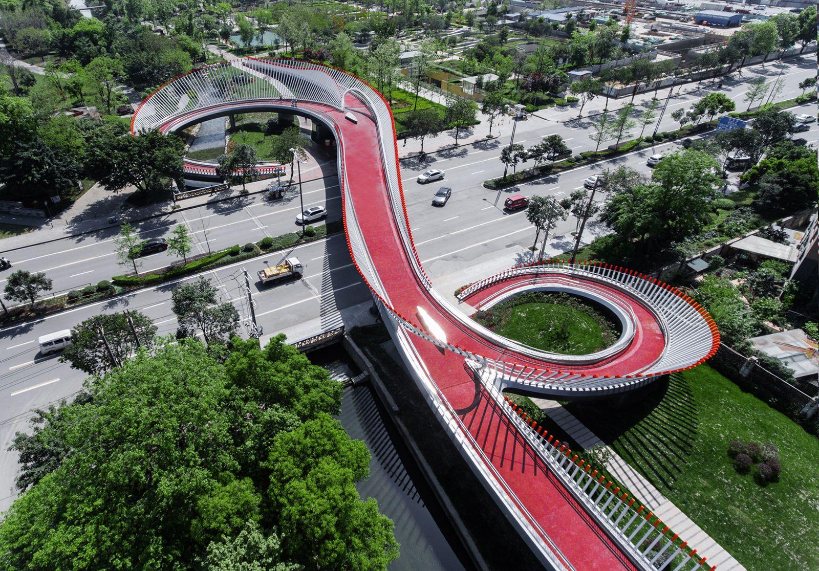 Ruyi Bridge / ZZHK Architects Pedestrian bridge, Bridges