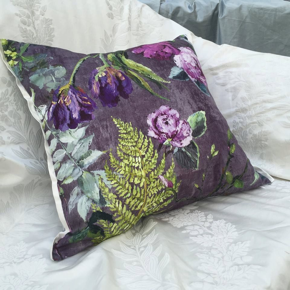 Etsy Throw Pillows Designers Guild Cover Tulipani Amethyst Decorative Pillow By