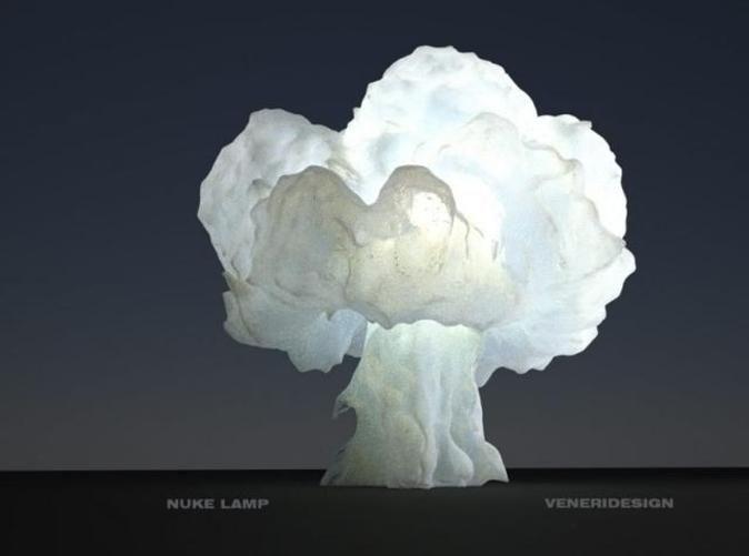 Nuke Lamp By Veneridesign On Shapeways Prints 3d Printing Lamp