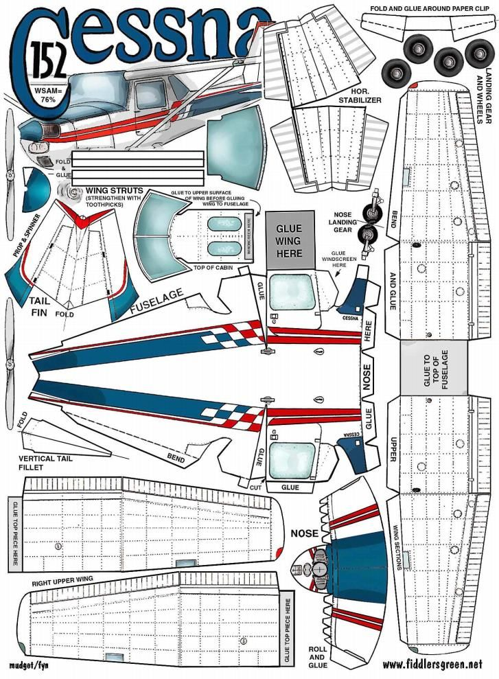 Cessna 152 fiddlers green paper models pinterest for Maquette stand