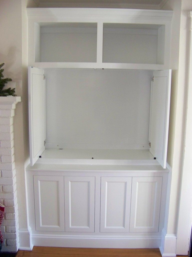 Media Cabinet With Pocket Doors
