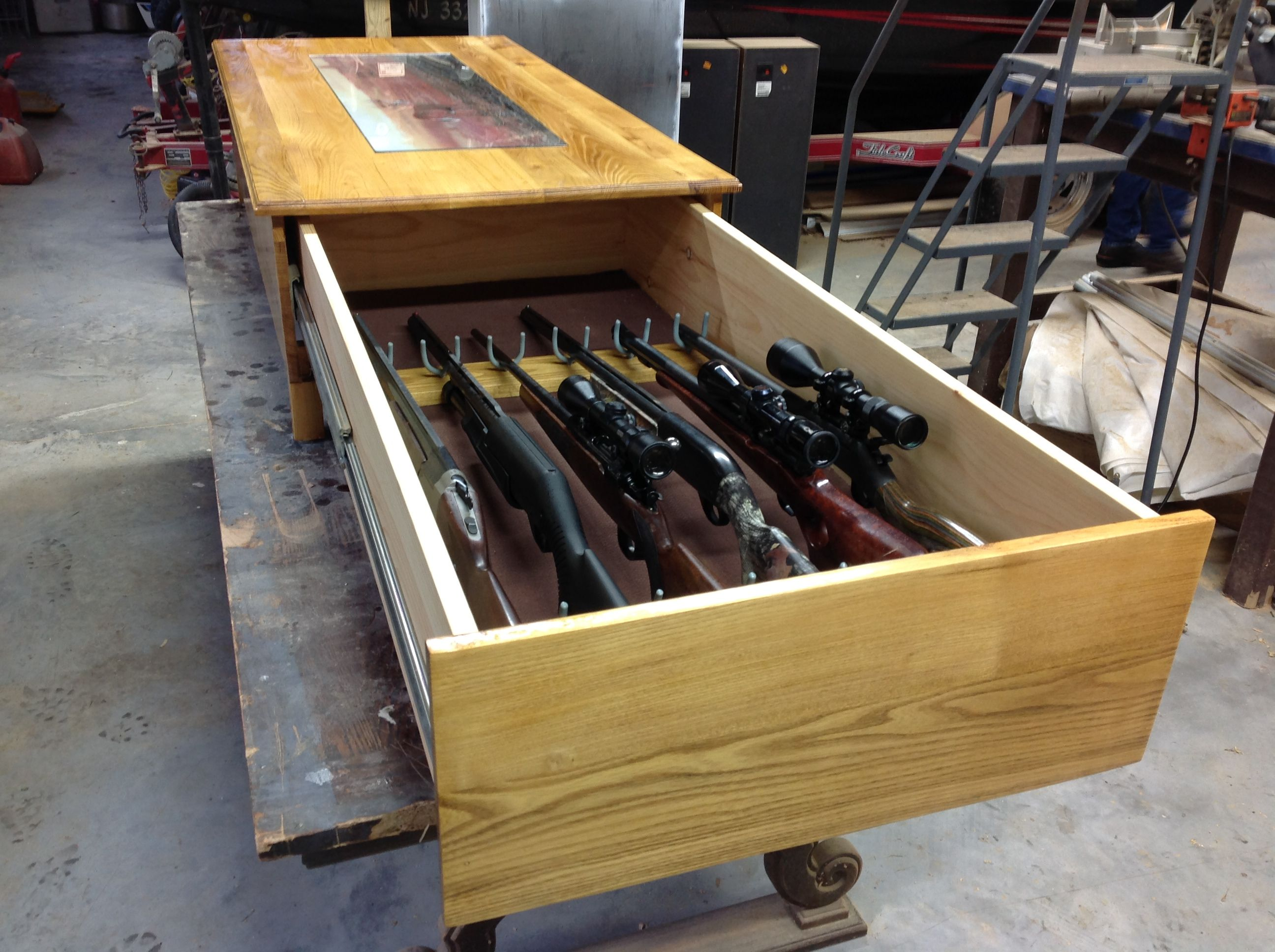 Superb Coffee Table Gun Cabinet