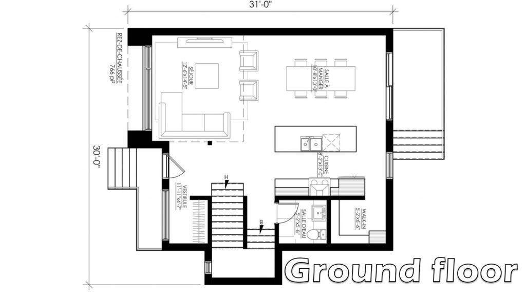 Small Modern House 30x31 With Interior Samphoas Plansearch Small Modern Home Small House Layout Small Modern House Plans