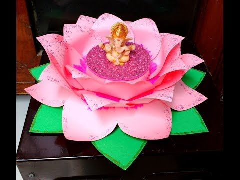 Large lotus flower using paper for window display youtube home large lotus flower using paper for window display youtube mightylinksfo