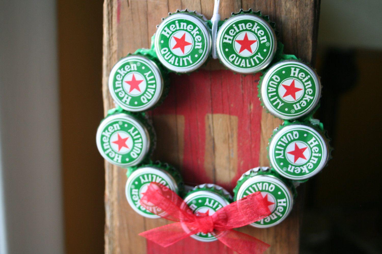 Heineken Beer Bottle Cap Christmas Ornament Tampas De Cerveja