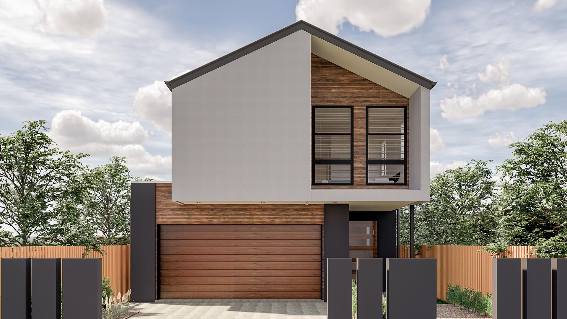 New Modern Facade In 2020 Home Builders Floor Plans City Living