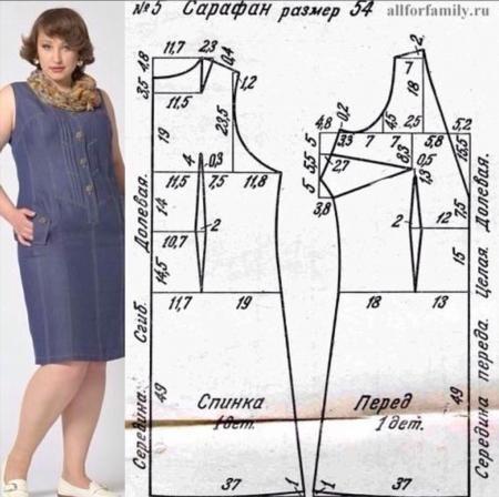 Выкройки платья большого размера своими руками фото 73