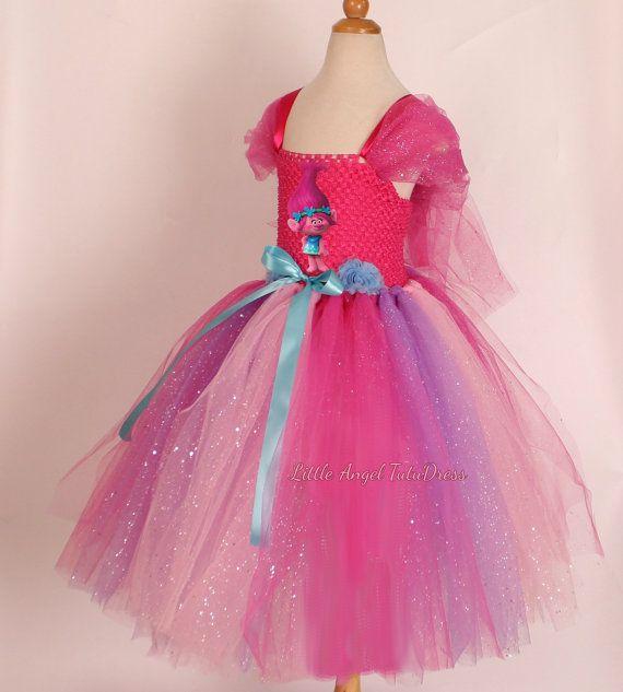 Princess Poppy Costume. Trolls Dress. Poppy Inspired Handmade Dress ...