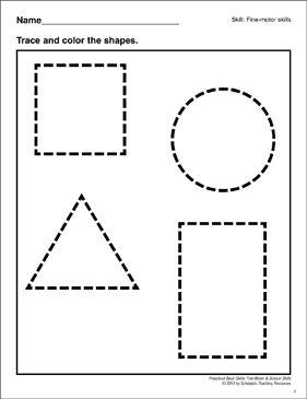 Tracing Shapes: Preschool Basic Skills (Fine Motor) by ...