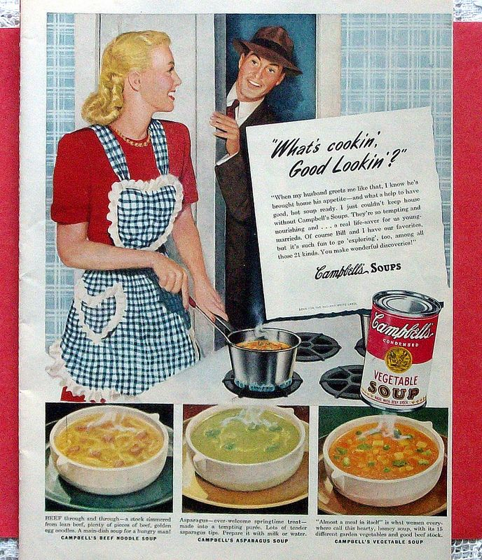 1945 ad Campbells soup home for lunch My Personal Collection