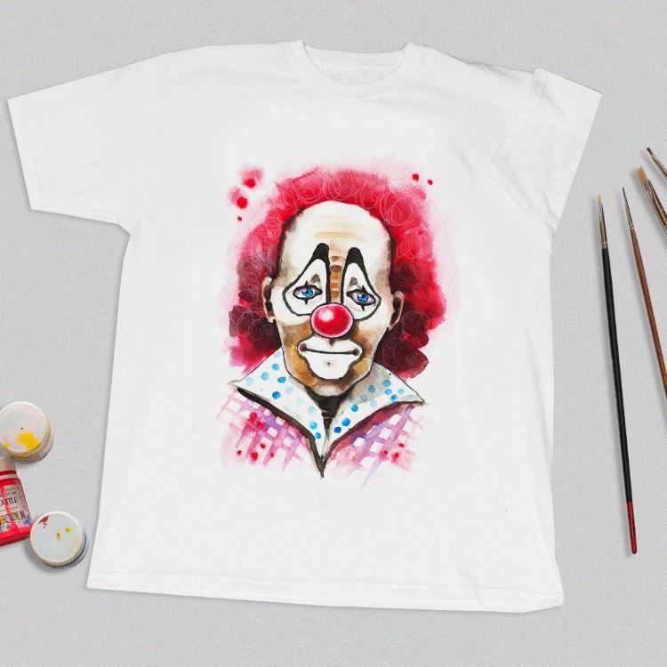 Hand Painted T Shirt Original T Shirt Clown Custom Painted Shirt