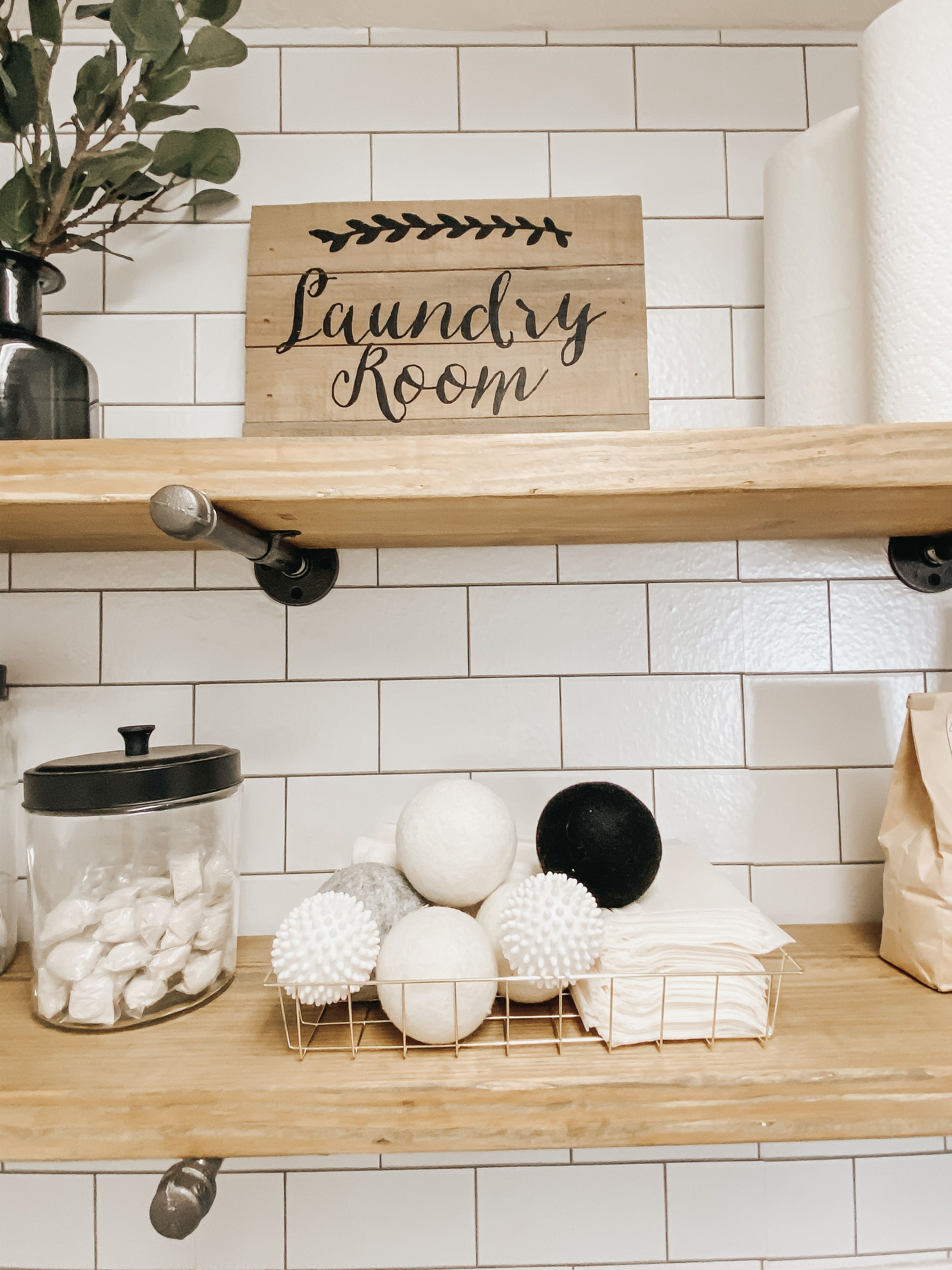 Peel And Stick Wallpaper Small Laundry Room Makeover Laundry Room Makeover Laundry Decor