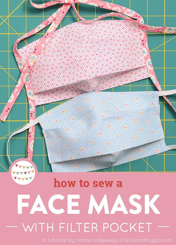 Comment coudre un masque facial avec une poche filtrante – Deux versions différentes   – Free patterns and tutorials / Kostenlose Nähanleitungen und Tutorials