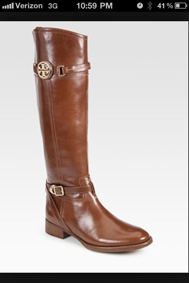 Tory Burch Calista Leather Riding Boots for my dear friend Allison Ash. 693ae264c298