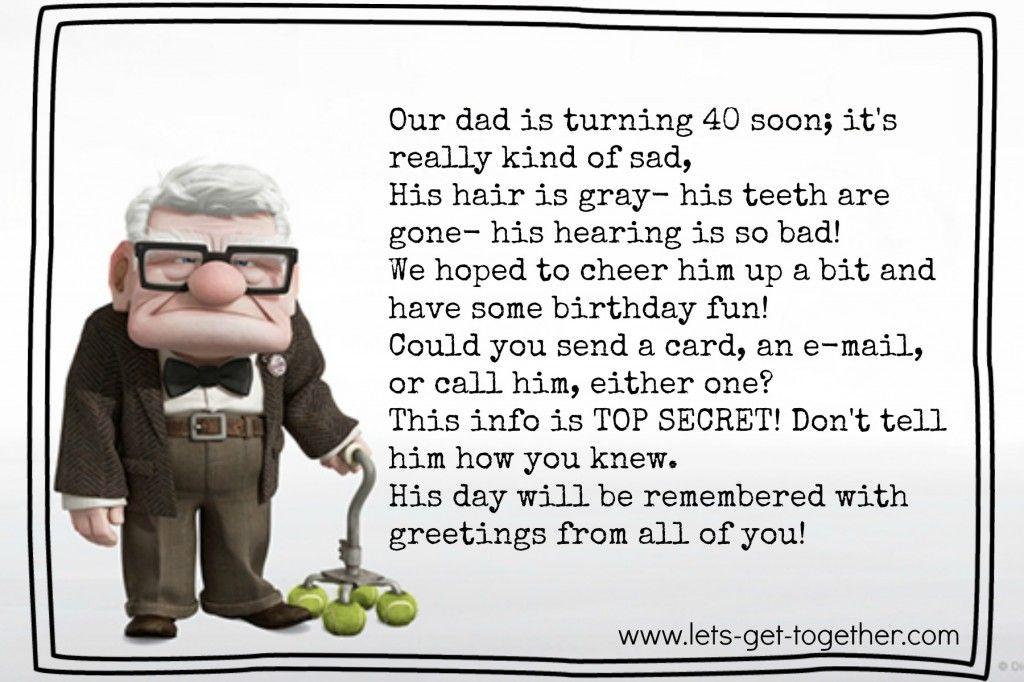 40th Birthday Surprise 40th Birthday Poems 40th Birthday Funny 40th Birthday Wishes