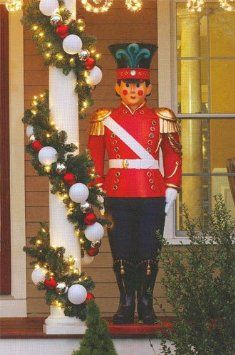 amazoncom giant commercial grade fiberglass toy soldier christmas decoration display 6 patio lawn garden